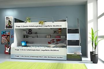 Doppelstockbett Bett Doppelbett Hochbett Jugendbett Betten Stockbett Etagenbett Hochglanz B003 - 4