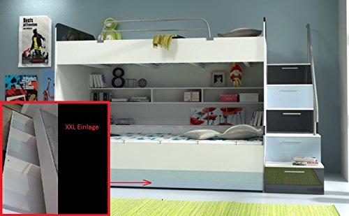 Doppelstockbett Bett Doppelbett Hochbett Jugendbett Betten Stockbett Etagenbett Hochglanz B003 - 7