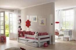 Einzelbett Jugendbett Bett mit Schubladen Dolphin Kiefer massiv, Farbe:Weiß - 1