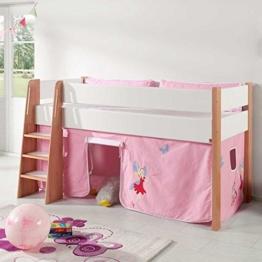 Fee Kinderbett mit Vorhang halbhoch Pharao24 - 1