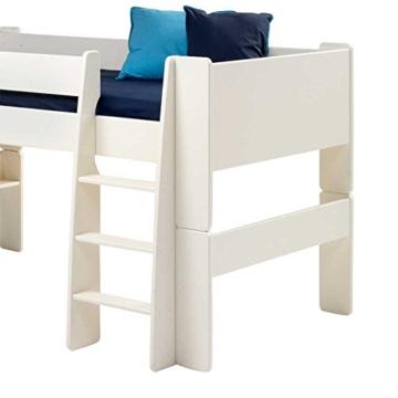 Halbhochbett in Weiß Kinderzimmer Pharao24 - 2