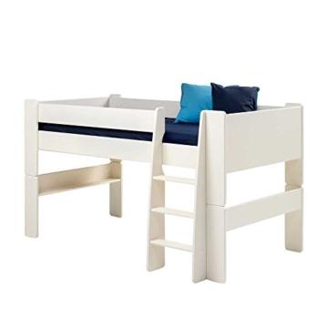 Halbhochbett in Weiß Kinderzimmer Pharao24 - 1