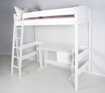 Hochbett IDA 4106 weiß 180 cm hoch inkl. Lattenrost - 1