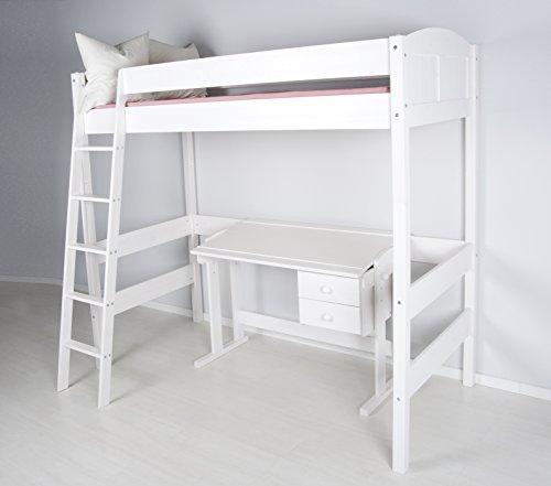 hochbett ida 4106 wei 180 cm hoch inkl lattenrost 1. Black Bedroom Furniture Sets. Home Design Ideas