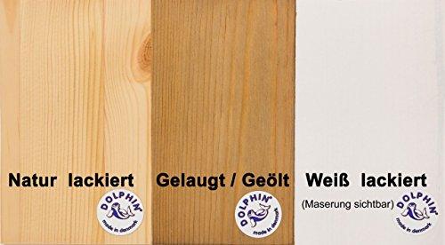 Hochbett MOBY Midisleeper mit Leiter Kiefer Massivholz Kinderbett, Farbton:Gelaugt/Geölt - 4