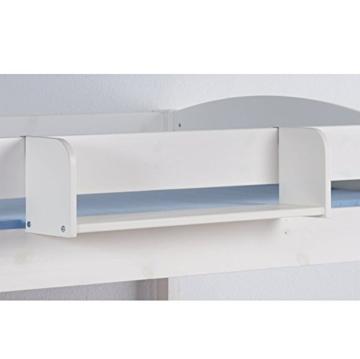 Hochbett Spielbett IDA Lila Beige, mit Vorhang, weiß, Variante 3 - 5
