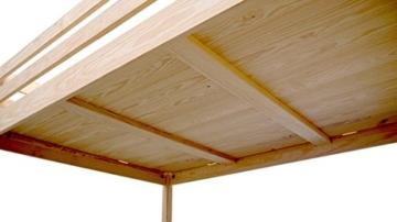 Hochbett Sylvia 120x 200+ Treppe Cube 2Sitzer Holz weiß Moka - 2