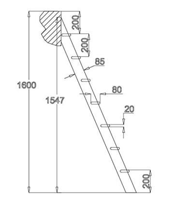 Intercon Hochbettleiter Maxi mit 7 Stufen in 160 cm Höhe, 3 Varianten wählbar - 4