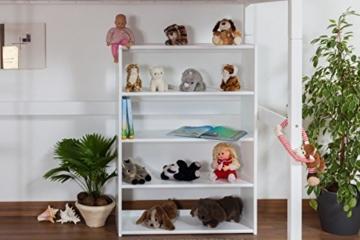 Kinderbett Hochbett / Kinderbett Dominik Buche Vollholz massiv Weiß lackiert inkl. Rollrost - 90 x 200 cm - 3
