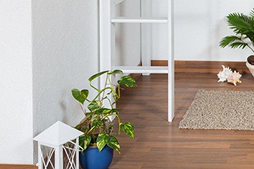 Kinderbett Hochbett / Kinderbett Dominik Buche Vollholz massiv Weiß lackiert inkl. Rollrost - 90 x 200 cm - 8