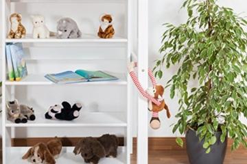 Kinderbett Hochbett / Kinderbett Dominik Buche Vollholz massiv Weiß lackiert inkl. Rollrost - 90 x 200 cm - 9