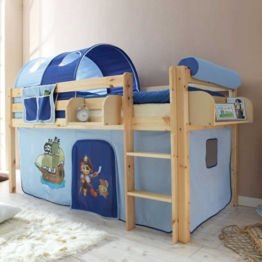 Kinderhochbett Deniel im Piraten Design Pharao24 - 1