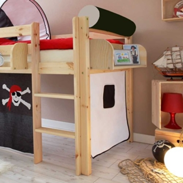 Kinderhochbett Dodgera im Piraten Design Pharao24 - 3