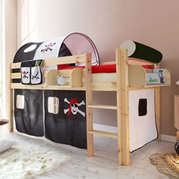Kinderhochbett Dodgera im Piraten Design Pharao24 - 1