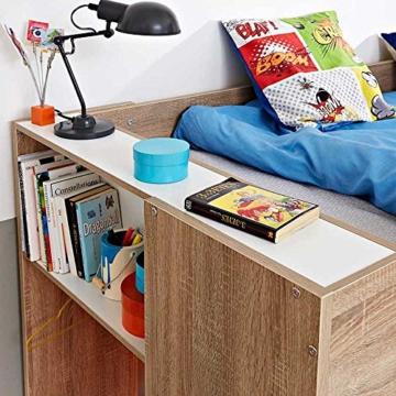 Kinderhochbett mit integriertem Schrank 90x200 Pharao24 - 3