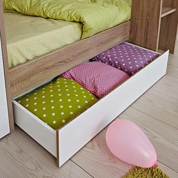 Kinderhochbett mit integriertem Schrank 90x200 Pharao24 - 5