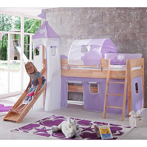 Mädchen-Spielbett Greta aus Buche Massivholz Pharao24 - 1