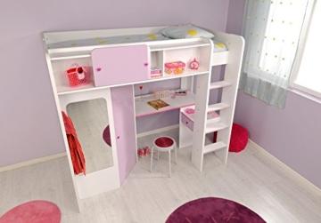 PARISOT Kinderbett Hochbett Mademoiselle / Yasmin in weiss/lila - 2