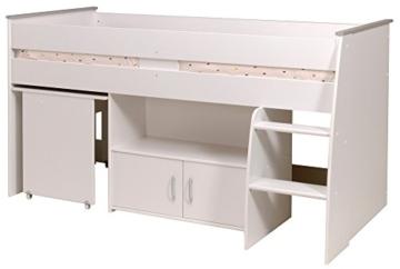 PARISOT Kinderbett Hochbett Reverse mit Schreibtisch weiß - 2