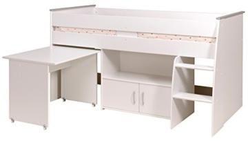 PARISOT Kinderbett Hochbett Reverse mit Schreibtisch weiß - 3