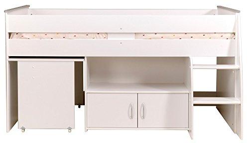 PARISOT Kinderbett Hochbett Reverse mit Schreibtisch weiß - 4