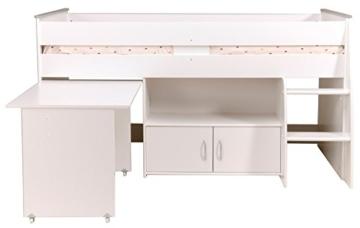 PARISOT Kinderbett Hochbett Reverse mit Schreibtisch weiß - 5