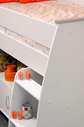 PARISOT Kinderbett Hochbett Reverse mit Schreibtisch weiß - 7