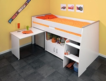 PARISOT Kinderbett Hochbett Reverse mit Schreibtisch weiß - 8
