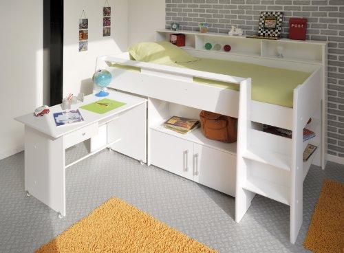 PARISOT Kinderbett Hochbett Swan weiß - 2