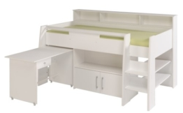 PARISOT Kinderbett Hochbett Swan weiß - 1