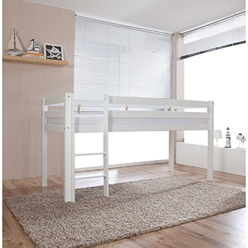 relita hochbett alex buche massiv wei lackiert. Black Bedroom Furniture Sets. Home Design Ideas