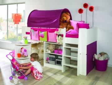 Steens for Kids Halbhochbett, MDF weiß lackiert, FSC zertifiziert, 90x200cm Liegefläche - 2