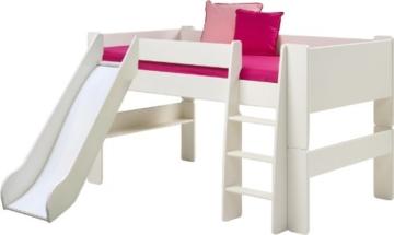 Steens for Kids Halbhochbett, MDF weiß lackiert, FSC zertifiziert, 90x200cm Liegefläche - 3
