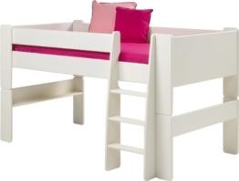 Steens for Kids Halbhochbett, MDF weiß lackiert, FSC zertifiziert, 90x200cm Liegefläche - 1