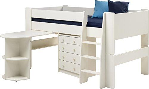 Steens for Kids Halbhochbett, MDF weiß lackiert, FSC zertifiziert, 90x200cm Liegefläche - 4