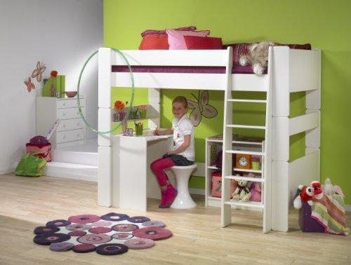 Steens for Kids, Hochbett, Liegefläche 90x200, teilbar, MDF weiß - 2