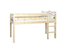Steens Furniture 3316130019000F Halbhochbett Tom, Kiefer massiv, natur lackiert, inklusiv Rost, 65 x 65 mm Pfosten - 1