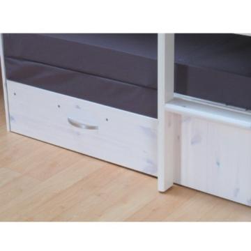 Thuka Hochbett, 90x200 Bett weiss inkl. Matratze grau und Lattenrost - 6