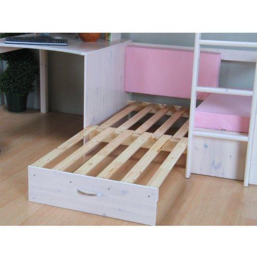 Thuka Hochbett 90x200 Kiefer massiv Bett Kinderbett Gästebett Schreibtisch - 6