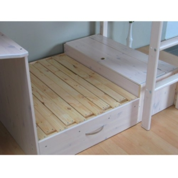 Thuka Hochbett 90x200 Kiefer massiv Bett Kinderbett Gästebett Schreibtisch - 4