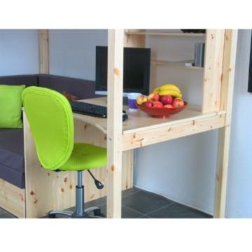 Thuka Hochbett 90x200 Kiefer massiv Bett Kinderbett Gästebett Schreibtisch - 5