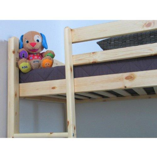 Thuka Hochbett 90x200 Kiefer massiv Bett Kinderbett Gästebett Schreibtisch - 7