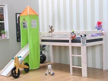 Thuka Kinder Turm Spielturm für Kinderbett Hochbett Rutschbett Bett grün orange - 3