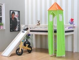 Thuka Kinder Turm Spielturm für Kinderbett Hochbett Rutschbett Bett grün orange - 1