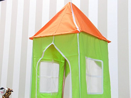Thuka Kinder Turm Spielturm für Kinderbett Hochbett Rutschbett Bett grün orange - 4
