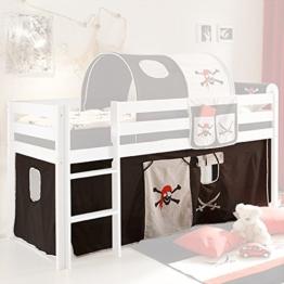 Vorhang Pirat 3-tlg 100% Baumwolle Stoffvorhang inkl Klettband für Hochbett Seeräuber Spielbett Etagenbett Stockbett Kinderbett Jugendbett - 1
